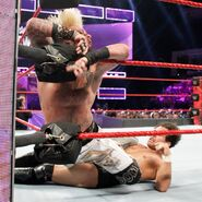 Enzo-Amore ran into the turnbuckle