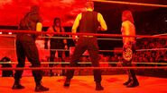 Kane arrives to crash Ambrose Rollins and Styles celebration