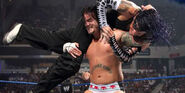 Punk fighting Jeff-Hardy at SmackDown-2009