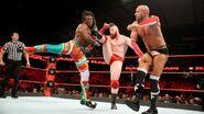Cesaro and Sheamus brogue kick Woods