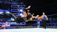 Roode and corbin double clothesline at eachother