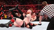 Sheamus takes advantage of all commotion by flooring Rollins