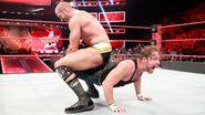 Cesaro putting Ambrose in a sharpshooter