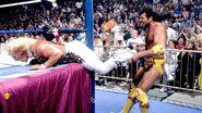 Ramon pulled Jarrett's legs between the post