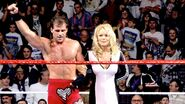 Shawn Michaels alongside actress Pamela Anderson win the Royal Rumble Match