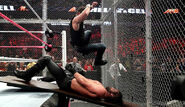 Dean-Ambrose elbowdrop Rollins