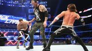 Sami-Zayn Baron-Corbin AJ-Styles fighting