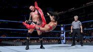 Shinsuke stings Orton with a kick to the head