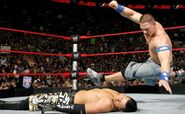 Cena knuckle shuffle on the Miz
