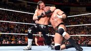 Dolph-Ziggler putting Triple-H in headlock