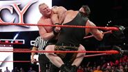 Brock-Lesnar traps Strowman in the Kimura lock