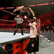 Rollins jumped on Sheamus