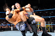 Trent battling Cody Rhodes