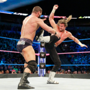 Dolph hit Roode with a superkick