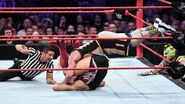 Enzo-Amore tries to cheat his way to the win but Kalisto alerts the official