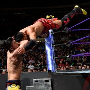 Akira Tozawa dives onto Perkins