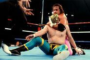 Bret-Hart putting Tiger-Mask in a headlock