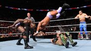 O'Neil toss Darren Young on top of Justin Gabriel