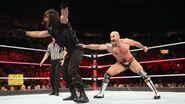 Cesaro caught Rollins