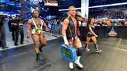 Dolph-Ziggler Big-E with AJ-Lee