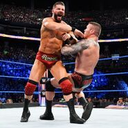 Roode is aggressive early on in the match