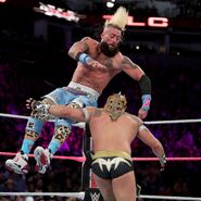 Amore hit Kalisto with a DDT