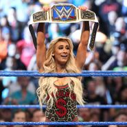 Carmella winning the SmackDown Women's Championship