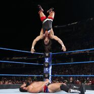 Gable backflip on Rusev