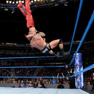 Orton drops Nakamura with a top-rope superplex