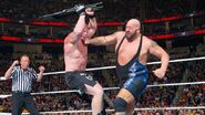 Big Show punching Brock Lesnar