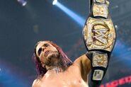 Jeff-Hardy win the WWE Championship at Armageddon 2008