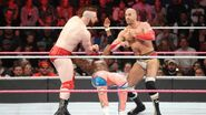 Kofi beat by Cesaro and Sheamus