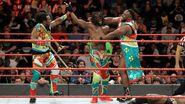 New Day celebrating on Raw