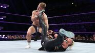 Amore put Bate in the inverted stomp facebreaker