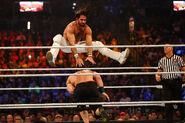 Rollins docking over Cena