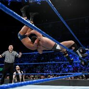Rusev hits the superplex with Roode off the top ropes