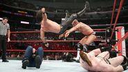 Cesaro toss Rollins onto Ambrose