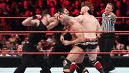 Cesaro Sheamus and Ambrose and Rollins continue to slug it out
