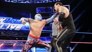 Sin-Cara fighting back at Corbin