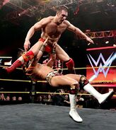 The energetic Mojo Rawley comes away with a win over CJ Parker