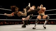 Jeff-Hardy doubled kick Cesaro and Sheamus