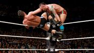 Strong kick Young on top-ropes