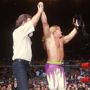 Chris Jericho winning the WCW Cruiserweight Champion