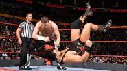 Sami Zayn attacking Bo Dallas