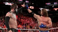 Finn Balor and AJ Styles display a sign of mutual respect
