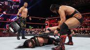 Roman beaten down