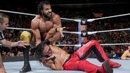 Mahal headlock on Nakamura