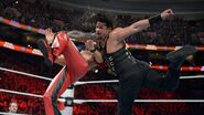 Reigns hits the Superpunch on Nakamura