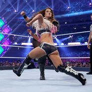 Bliss utilizes her speed to counter her opponent's raw size and power