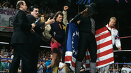 Undertaker with Paul Bearer and Scott Stainer Lex Luger